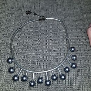Ben Amun gray pearl choker necklace